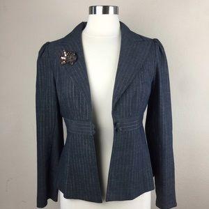 Nanette Lepore Charcoal Colored Blazer Size 8